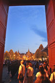 Bangkok-Dec 8:Grand Palace opened for tourists entry at night — Stock Photo