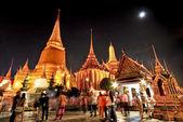 Wat pra kaew Grand palace at night bangkok,Thailand — Stockfoto