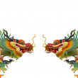 Chinese golden dragon on white background isolated — Stock Photo