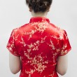 Stock Photo: Cheongsam,is for important occasions wear by during new year da