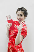 Chinese new year. In Chinese, a red packet is a monetary gift — Stock Photo