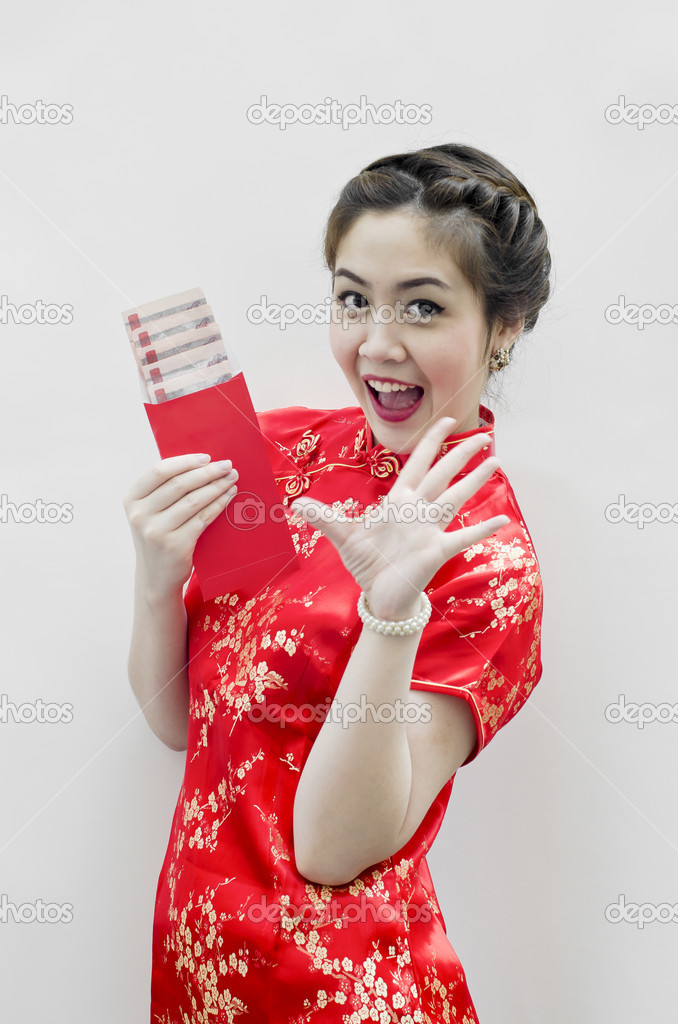 Chinese new year. In Chinese, a red packet is a monetary gift  — Stock Photo #8631895