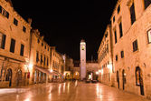 Croatia, Dubrovnik at night — Stock Photo