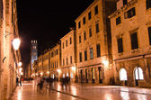 Croatia, Dubrovnik at night — Stock Photo