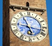 Clock tower of the basilica of palladio, vicenza italy — Stock Photo