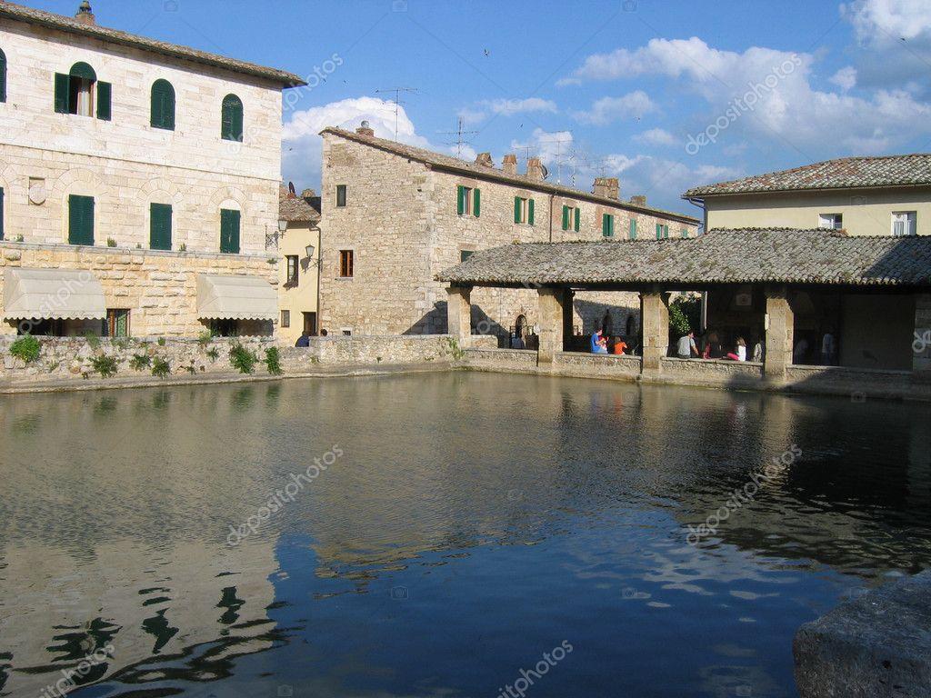 Thermal baths of bagno vignoni — Stock Photo © cristalvi #8039920