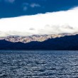 Velebit mountain and sea weather layers — Stock Photo