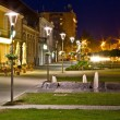 Stock Photo: Town of Krizevci walkway night scene