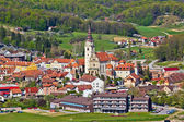 Marija Bistrica church aerial view — Stock Photo