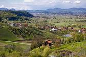 Green landscape of Zagorje region — Stockfoto