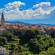 Adriatic Town of Vrbnik panoramic view - Stock Photo