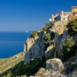Adriatic coastal town on the rock - Lubenice - Stock Photo