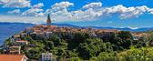 Adriatic Town of Vrbnik panoramic view — Stock Photo