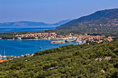 Adriatic Town of Cres bay — Stock Photo