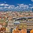 Zagreb lower town colorful panoramic view — Stock Photo