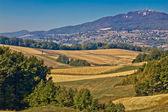 Kalnik mountain landscape - fields and countryside — Stock Photo