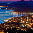 Town of Mali Losinj bay at sunset — Stock Photo