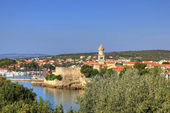 Old adriatic town of Krk waterfront — Stock Photo