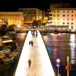 Dalmatian city of Zadar harbor bridge — Stock Photo