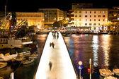 Dalmatian city of Zadar harbor bridge — Stock Photo