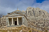 Stone church on Velebit mountain — Stock Photo