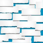 Fondo con trozos de papel rasgado — Vector de stock