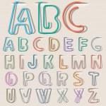 Clip paper alphabet — Stock Vector #10555959