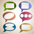 Royalty-Free Stock Vector Image: Creative speech bubbles