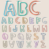 Clip paper alphabet — Stock Vector