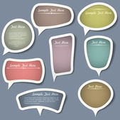 Speech bubbles with calligraphic elements — Stock Vector