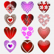 Vector de stock : Complex heart
