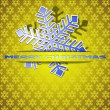 Snowflake-applique — Stock Vector
