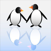 Funny penguins — Vector de stock