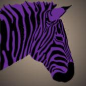 творческий портрет зебра — Cтоковый вектор