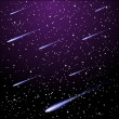 ������, ������: Starry night sky with meteor shower