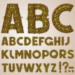 Golden Swirly Alphabet — Stock Vector