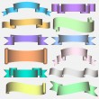 Ribbon Scroll in pastel tones — Stock Vector
