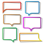 Speech bubbles from paper — Stock Vector