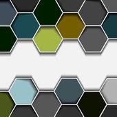 Abstract hexagon border — Stock Vector