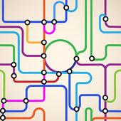 Subway map seamless — Stock Vector