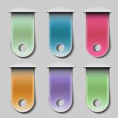Stylish bookmarks — Stock Vector