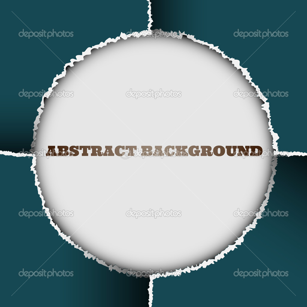 Round background of torn paper — Stock Vector #9682628