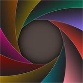 Colorful shutter photo frame — Stock Vector