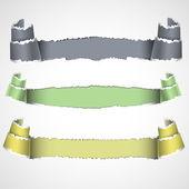 Три рваной бумаги баннеры — Cтоковый вектор