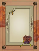Elegant Photoframe quick page layout — Stock Photo