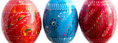The pysankas or Easter eggs close up — Stock Photo