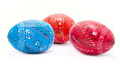 Beautiful decorated Easter eggs — Stock Photo