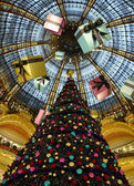 Galeries Lafayette in christmas. — Stock Photo