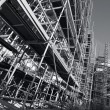 Giant scaffolding, black and white — Stock Photo #10537249