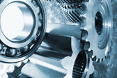 Titanium gears in action — Stock Photo